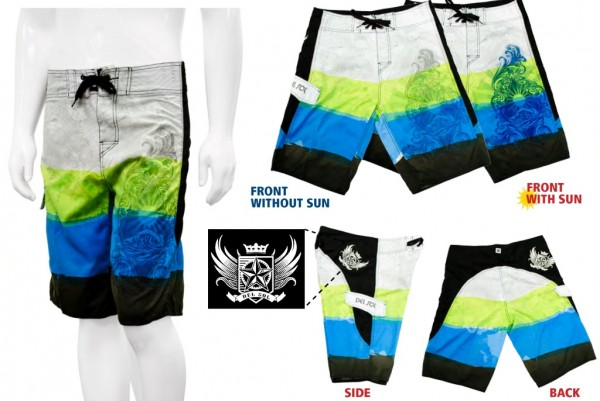 Del Sol Color Changing Board Shorts