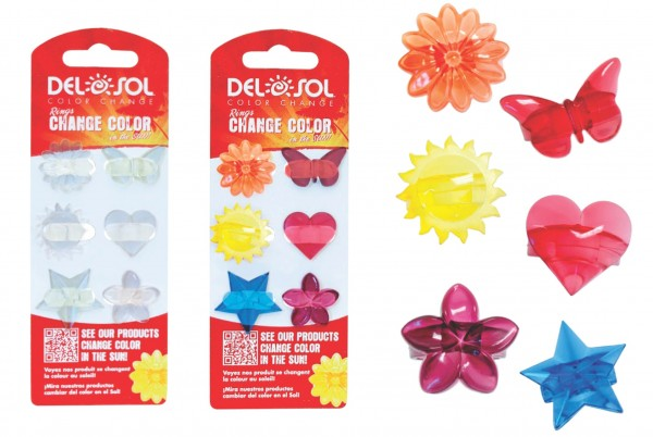 del sol color changing 6-pack rings
