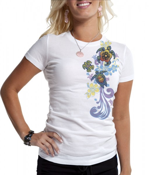del sol color changing tribal turtle shirt with sun