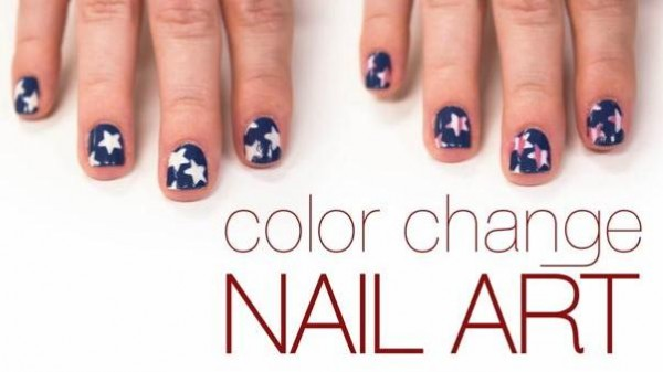4th of July color-changing nails by Del Sol