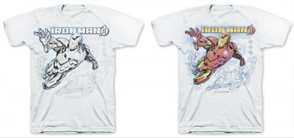 Del Sol Marvel Iron Man Color Changing Tee