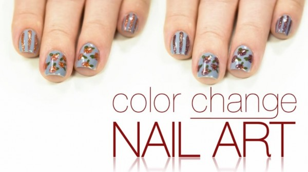 Del Sol Color Change Nail Art Roses