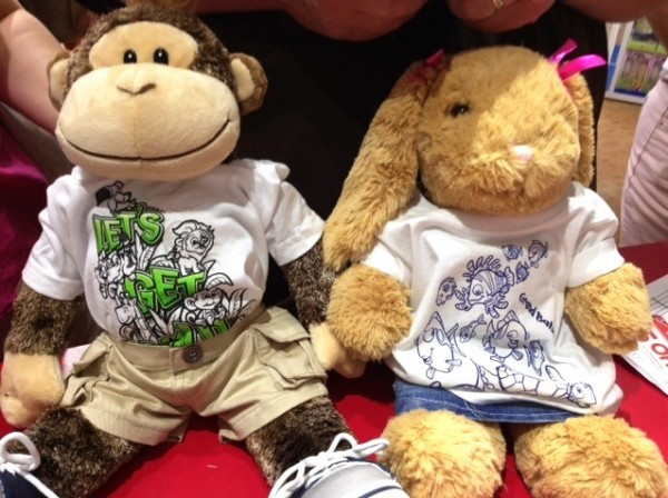 Build-a-Bear Animals Wearing Del Sol color change gear