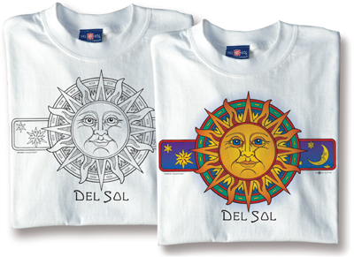 Del Sol Color-Changing Sun Face Shirt Design