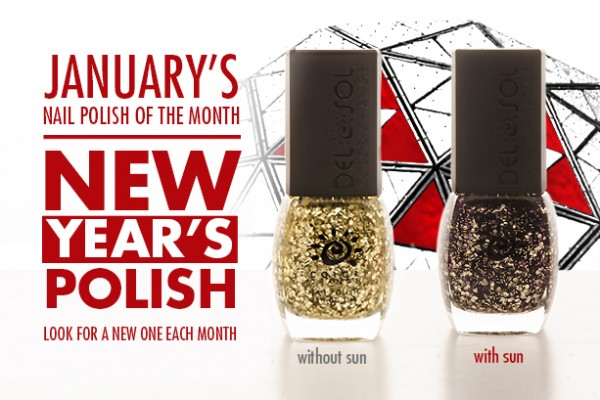 January 2014 Del Sol Color Change Nail Polish of the Month, New Year's Polish