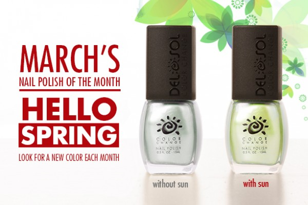 March 2014's Del Sol Color-Changing Nail Polish of the Month