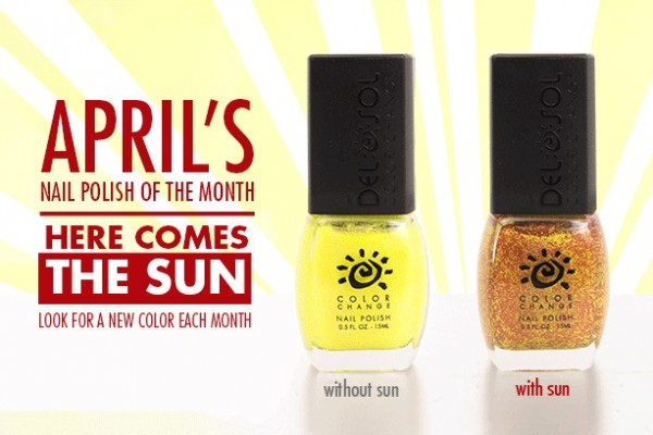 April 2014 Del Sol color-changing nail polish, Here comes the sun