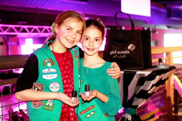 del sol nail polish donation to girl scout event