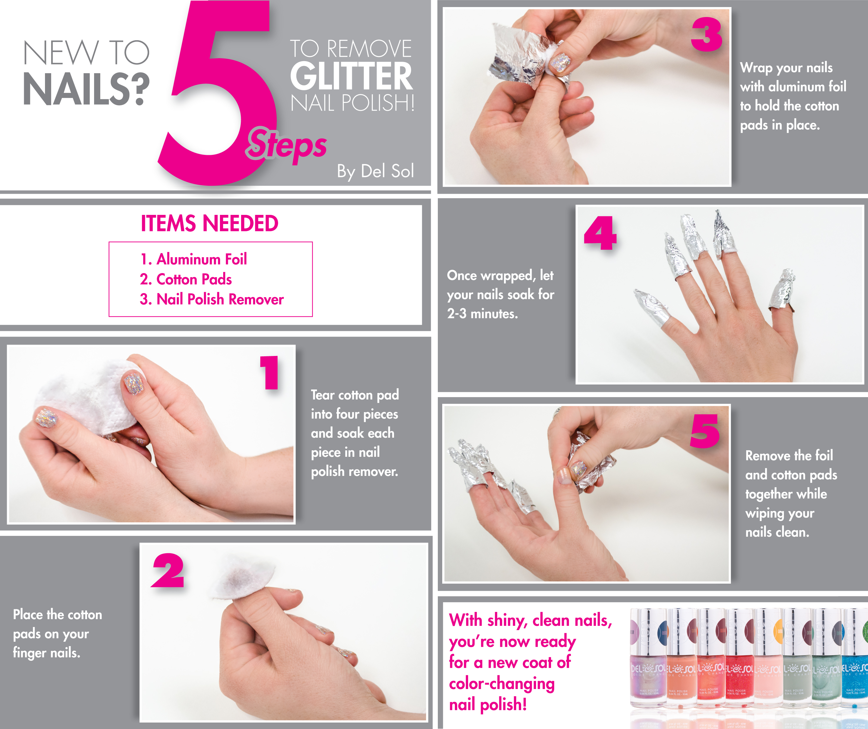 5 simple steps for removing glitter nail polish del sol