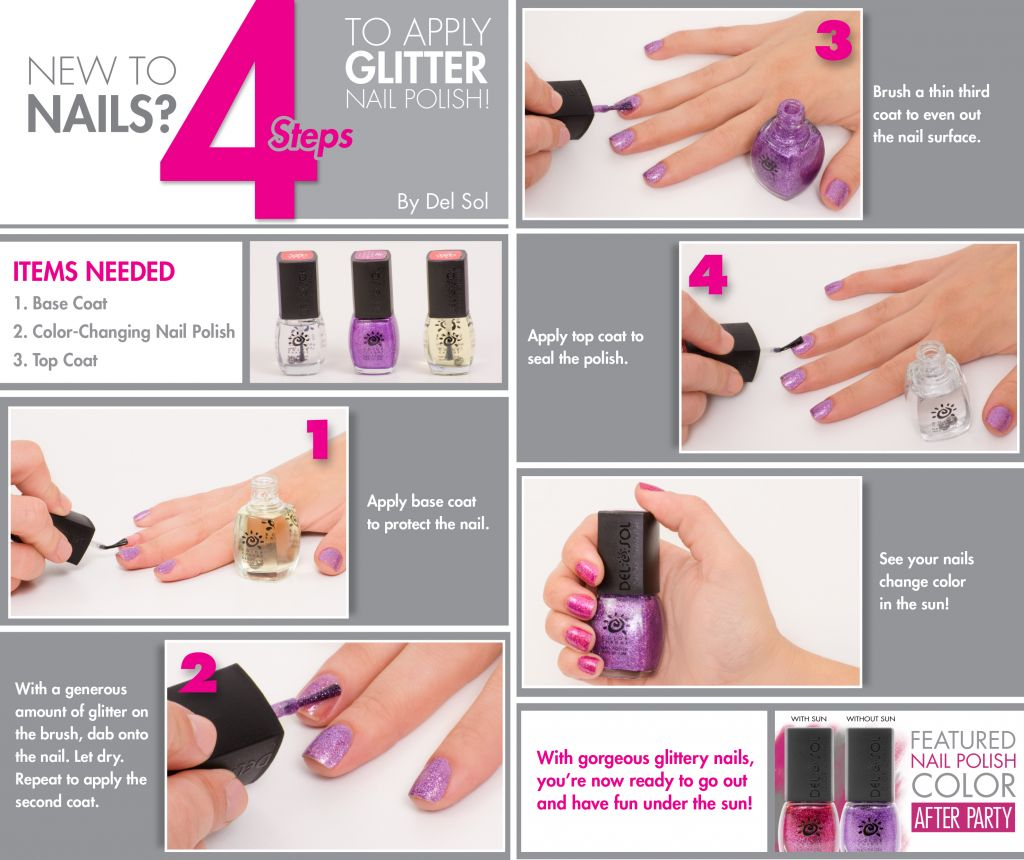 Infographic: Who Wants to Apply Glitter Nail Polish Like a Pro ...