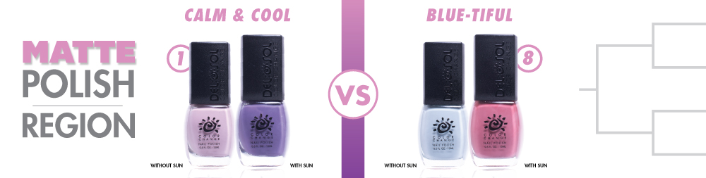 Calm & Cool VS Blue-tiful Color-Changing Nail Polish