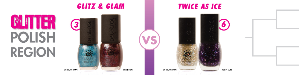 Glitz & Glam VS Twice As Ice Color-Changing Nail Polish