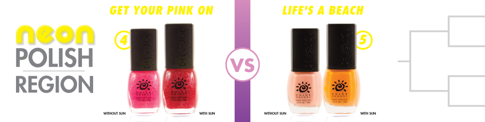 Get Your Pink On VS Life's A Beach Color-Changing Nail Varnish