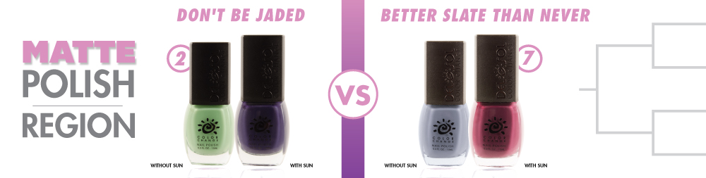 Don't Be Jaded VS Better Slate Than Never Color-Changing Nail Polish