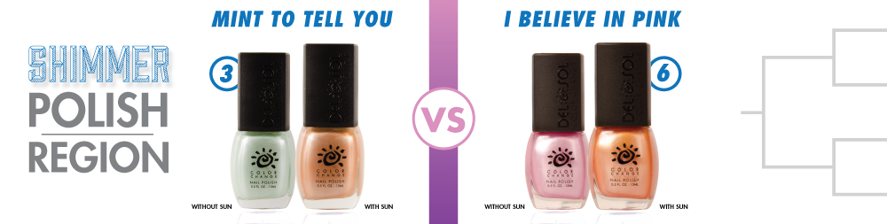 Mint To Tell You VS I Believe In Pink Color-Changing Nail Lacquer
